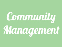 community management button